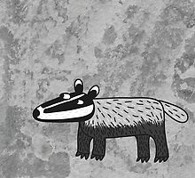 Badger by nic squirrell