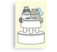 Kitty Cat Wedding Canvas Print