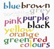English colour words Kids Tee