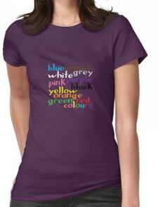 English colour words Womens Fitted T-Shirt
