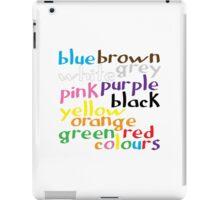English colour words iPad Case/Skin