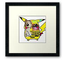Macintosh 420 Pikachu Framed Print