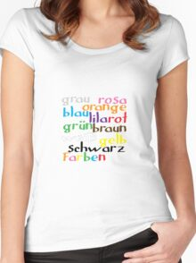 German colour words Women's Fitted Scoop T-Shirt