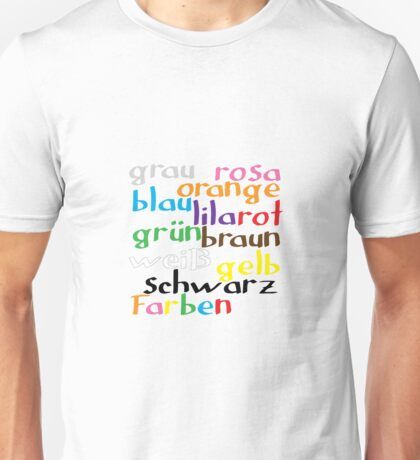 German colour words Unisex T-Shirt