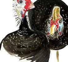 Guinea Fowls by Krokokaro