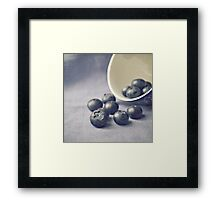 Bowl of Blueberries Framed Print