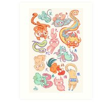 Chinese Animals of the Year Art Print