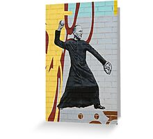 The Sporty Priest Greeting Card
