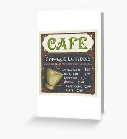 Elegant Cafe Chalkboard Greeting Card