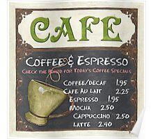 Elegant Cafe Chalkboard Poster