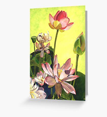 Citron Lotus 1 Greeting Card