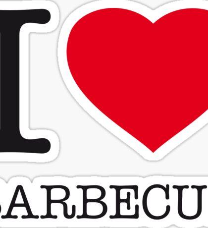 I ♥ BARBECUE Sticker