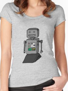 Robot doodle Women's Fitted Scoop T-Shirt