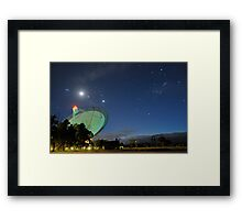 Moon and Planets Parade Above the Dish Framed Print