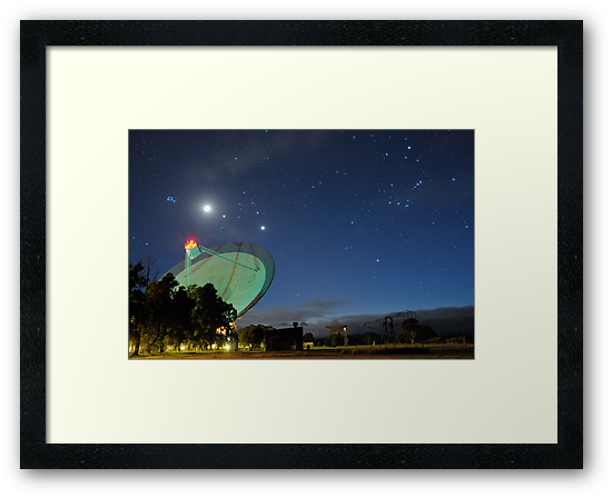 Moon and Planets Parade Above the Dish by Alex Cherney