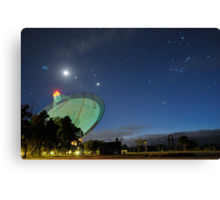 Moon and Planets Parade Above the Dish Canvas Print