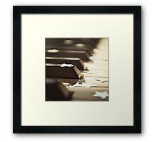 Piano keys and stars Framed Print