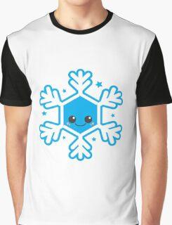 Kawaii Winter Snowflake Graphic T-Shirt