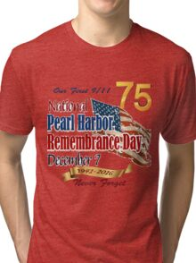 75th Anniversary of Pearl Harbor Tri-blend T-Shirt