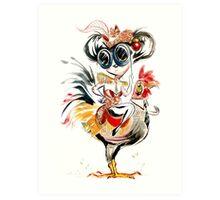 Chicken Ride Art Print