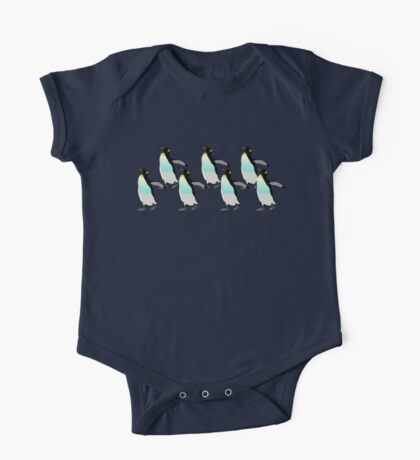 Penguins Marching Home  One Piece - Short Sleeve