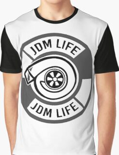 The jdm life turbo - gray Graphic T-Shirt