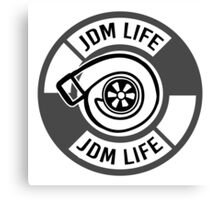 The jdm life turbo - gray Canvas Print