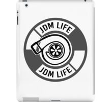 The jdm life turbo - gray iPad Case/Skin
