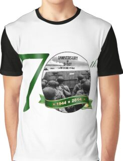 70th Anniversary of D-Day Logo Graphic T-Shirt