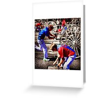 Wagon Wheels  Greeting Card