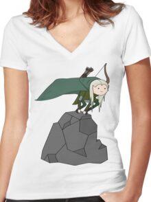 Legolas Time Women's Fitted V-Neck T-Shirt