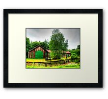 Sawmill by Monkland Canal. Framed Print