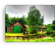 Sawmill by Monkland Canal. Canvas Print