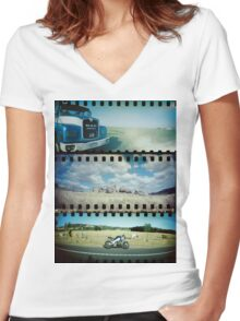 Sprockius Compilatus Women's Fitted V-Neck T-Shirt