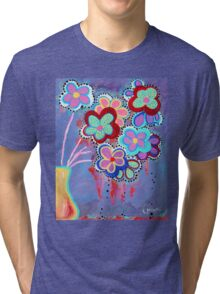 Whimsical Flowers - Art by Valentina Miletic Tri-blend T-Shirt