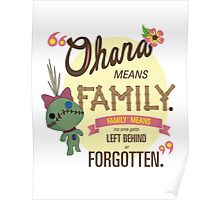 Ohana - Lilo and Stitch Quote Poster