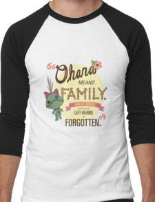 Ohana - Lilo and Stitch Quote Men's Baseball ¾ T-Shirt