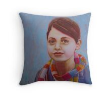 Multi-coloured Days, watercolor and mixed media on paper Throw Pillow
