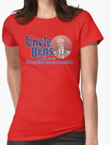 Uncle Ben's Rice. Spider-man Womens Fitted T-Shirt