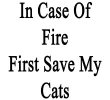 In Case Of Fire First Save My Cats  by supernova23