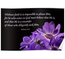 Hebrews 11:6 Poster
