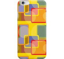 Colorful Abstract Geometric Shapes Retro Pattern iPhone Case/Skin