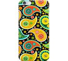 Colorful Abstract Retro Paisley Pattern iPhone Case/Skin