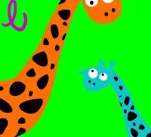 colorful Giraffe family w/ love (sticker & iPhone/iPod case) Sticker