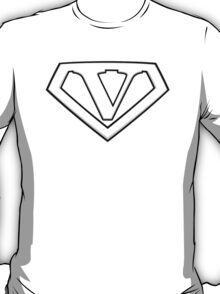 Super Cool White V Logo T-Shirt