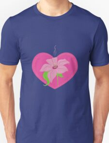 pink heart with lily T-Shirt