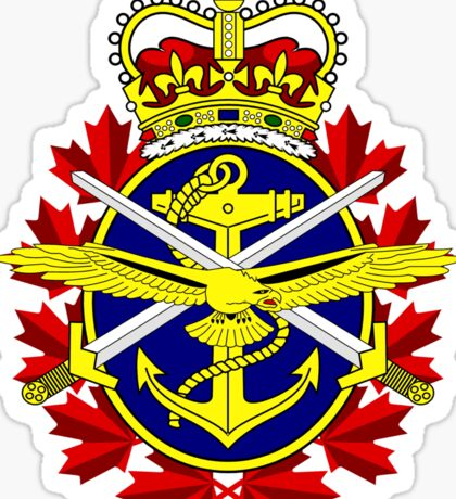 Canadian Forces (CF) Logo Sticker
