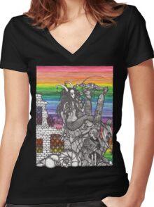 Mermaid Dream Women's Fitted V-Neck T-Shirt
