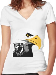 The American Eagle Remembers Women's Fitted V-Neck T-Shirt