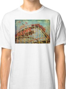 Riding The Famous Cyclone Roller Coaster Classic T-Shirt